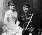 The American heiress Louise Price and the Hungarian 'Baron' Gabor Bornemisza in 1883. The start of the Hungarian connection.