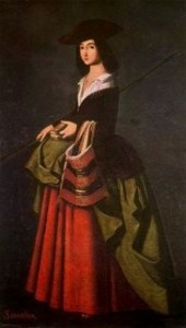 Another Dodgy Painting: Allegedly A 'Santa Marina' by Francisco Zurbaran. Soon to be housed at the Carmen Thyssen-Bornemisza Museum in Malaga?